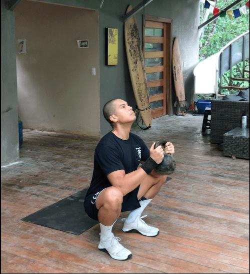 Prying Goblet Squat For Kettlebell Training